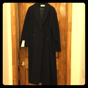 Christian Dior ankle length wool coat